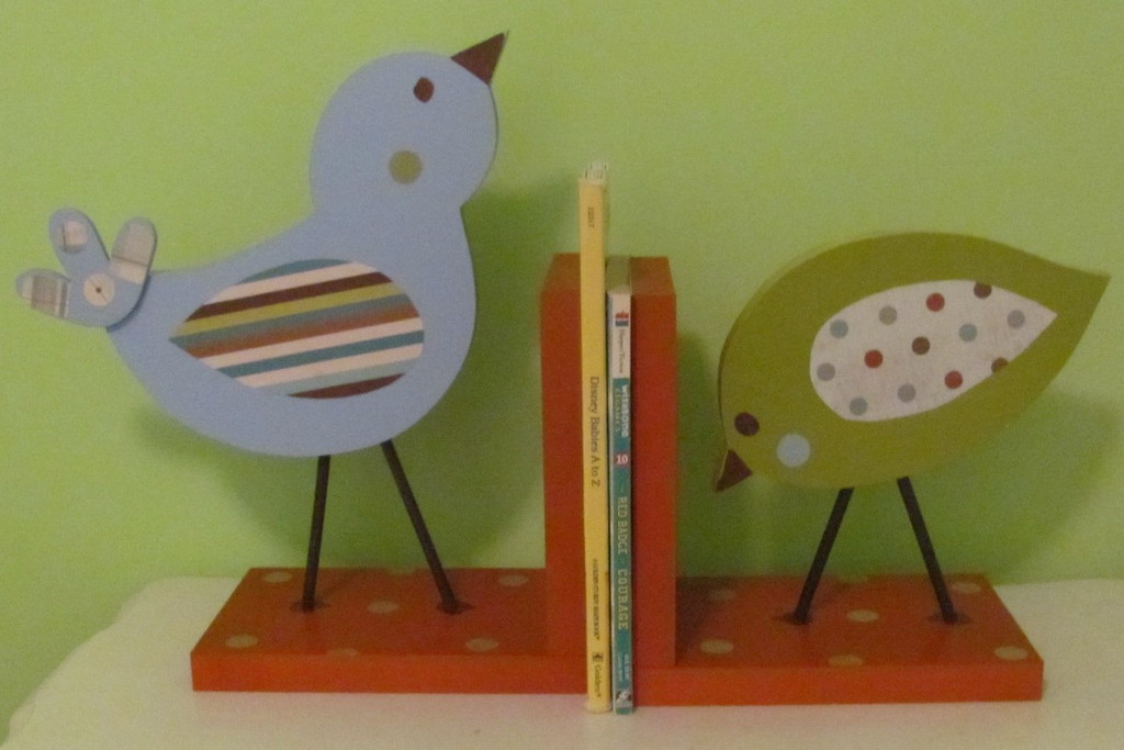 Picture of: Bookends for Nursery green