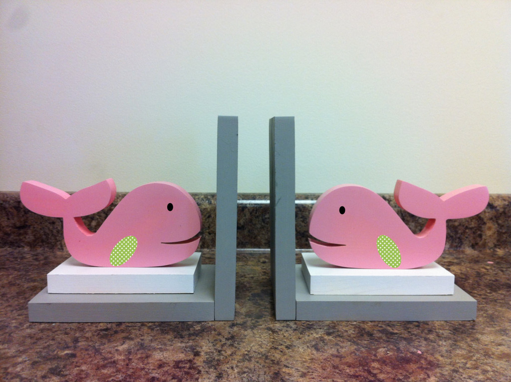 Picture of: Bookends for Nursery pink