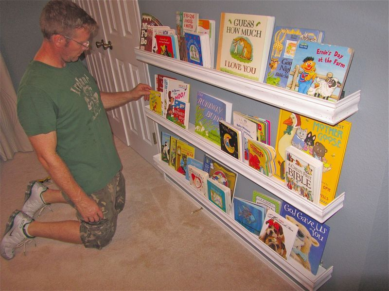 Image of: Bookshelf for Nursery Baby