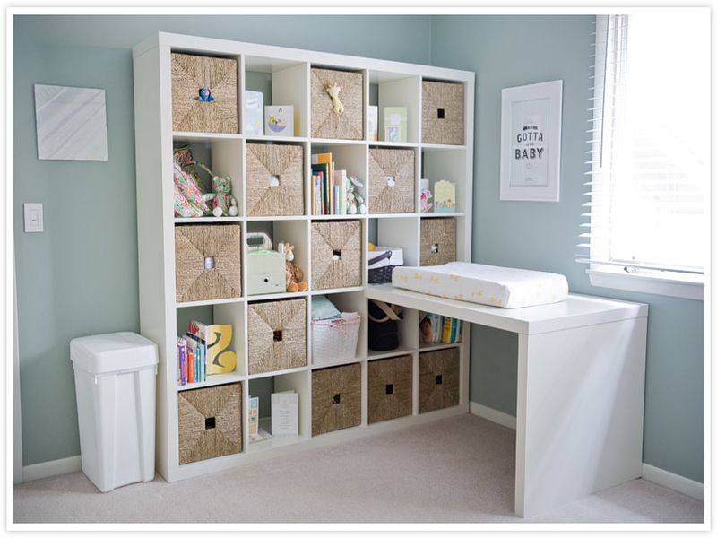 Image of: Bookshelf for Nursery Best