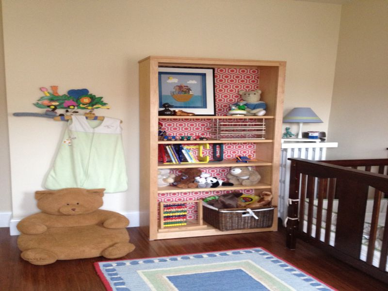 Image of: Bookshelf for Nursery Design