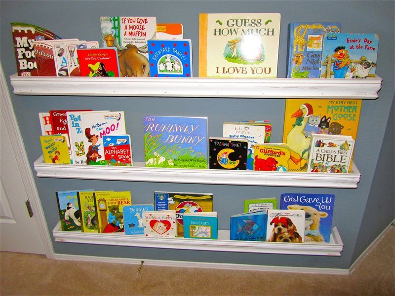 Image of: Bookshelf for Nursery Ideas