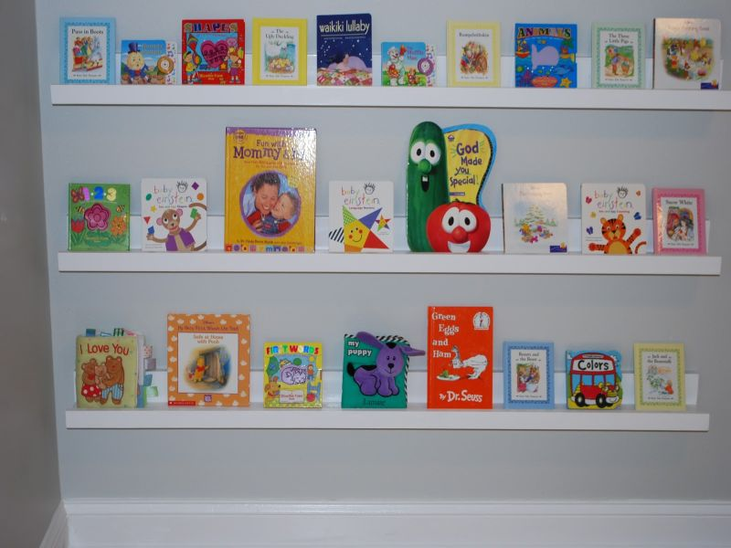 Bookshelf for Nursery Wall