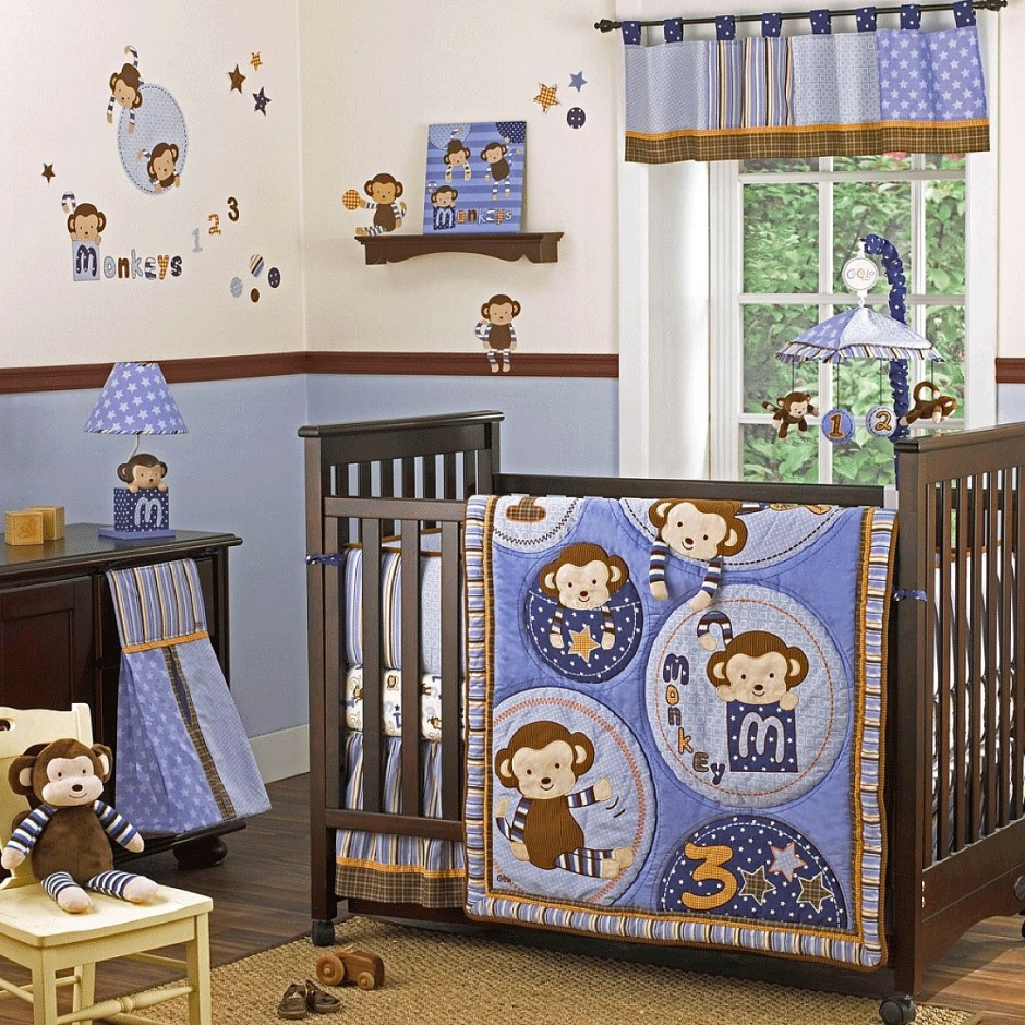Image of: Boy Nursery Themes Monkeys