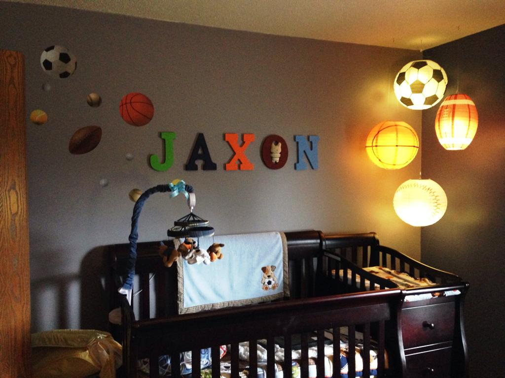 Image of: Boy Nursery Themes Sports