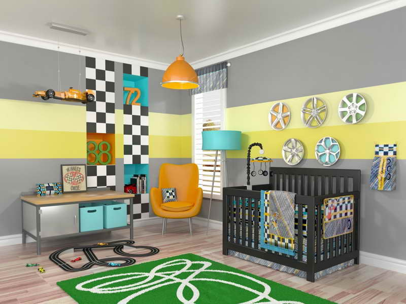 Image of: Boy Nursery Themes Stylish