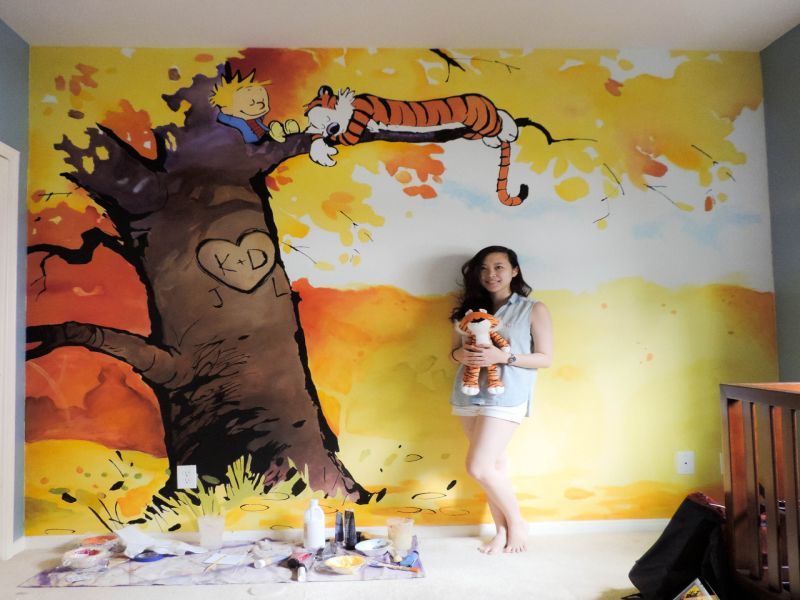 Image of: Calvin and Hobbes Nursery Art