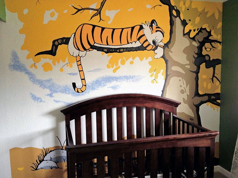 Image of: Calvin and Hobbes Nursery Background