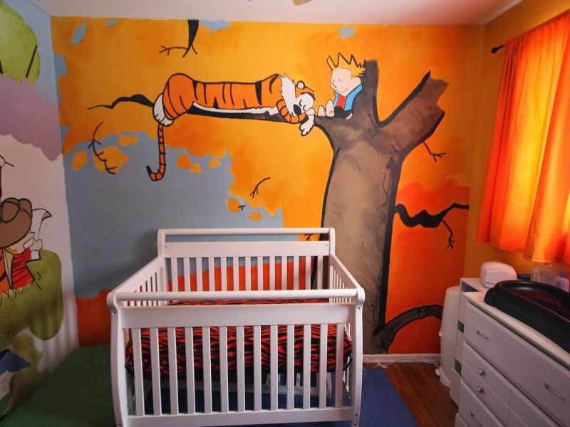 Image of: Calvin and Hobbes Nursery Cartoon