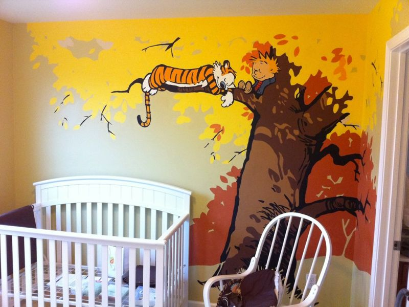 Image of: Calvin and Hobbes Nursery Decor