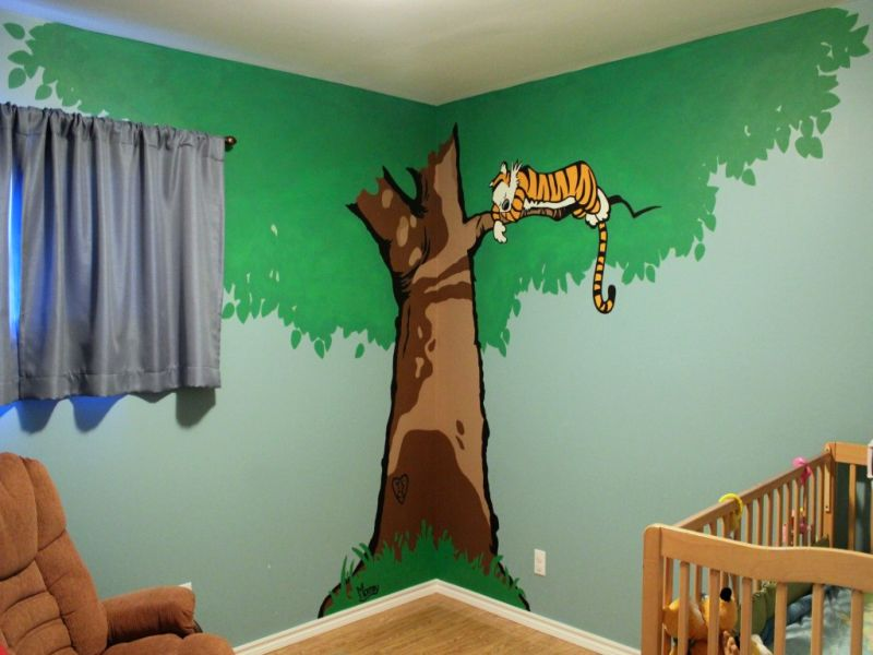 Image of: Calvin and Hobbes Nursery Decorative