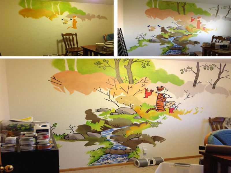 Image of: Calvin and Hobbes Nursery Image