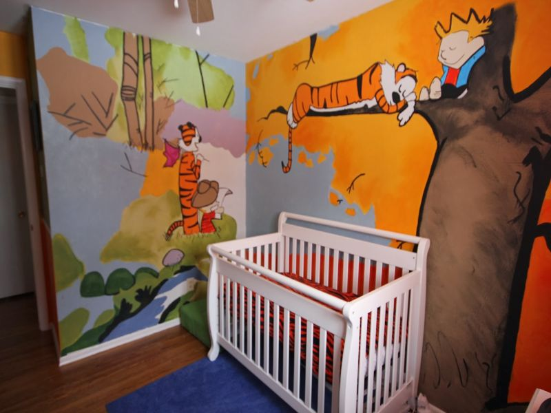 Image of: Calvin and Hobbes Nursery Nice Design