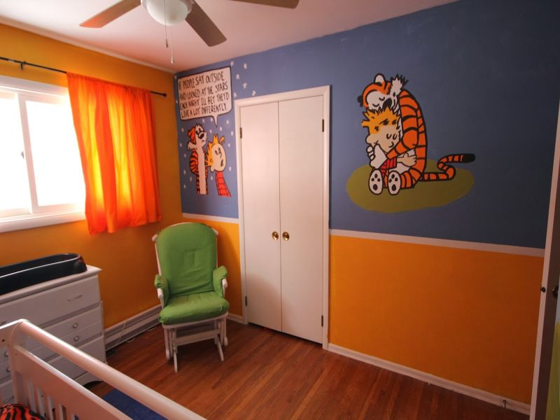 Image of: Calvin and Hobbes Nursery Photo