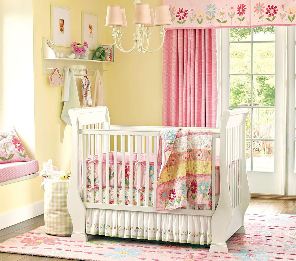 Picture of: Charming Baby Girl Nursery Bedding
