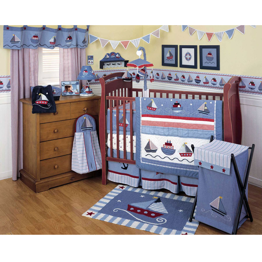 Picture of: Classic Nautical Themed Nursery