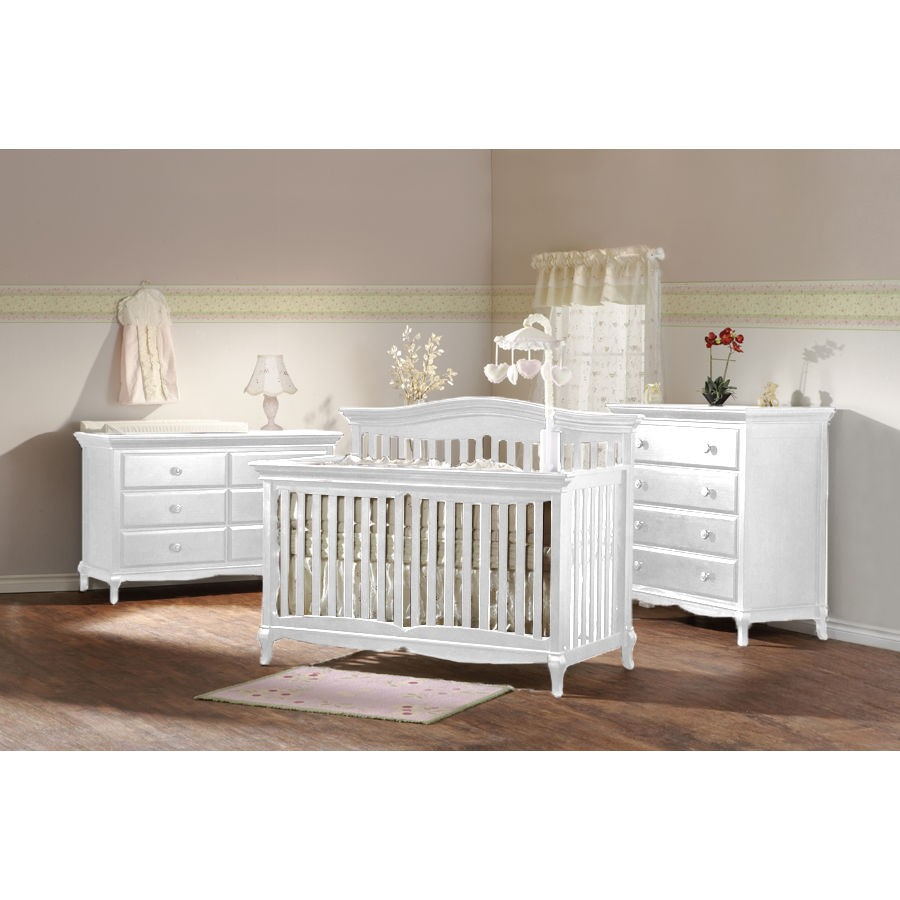 Image of: Classic White Dresser for Nursery