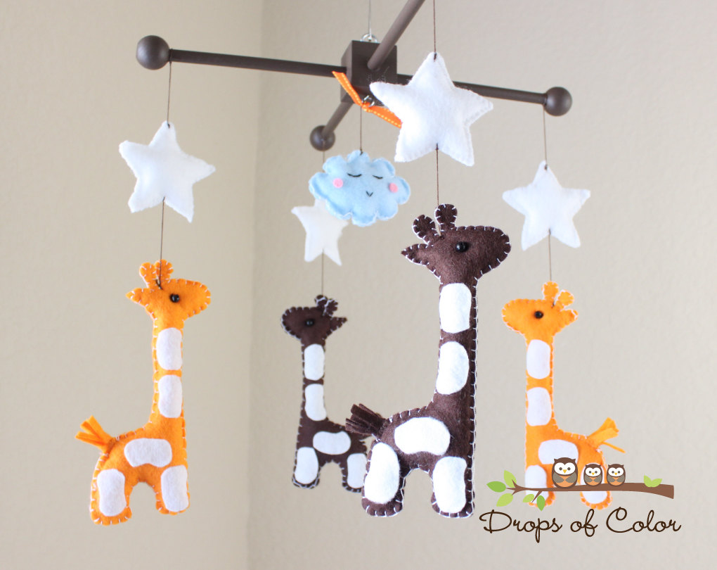 Image of: Colorful Giraffe Nursery