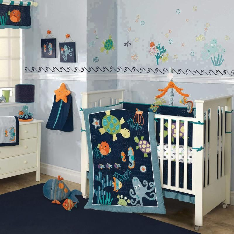 Image of: Colorful Turtle Nursery Bedding