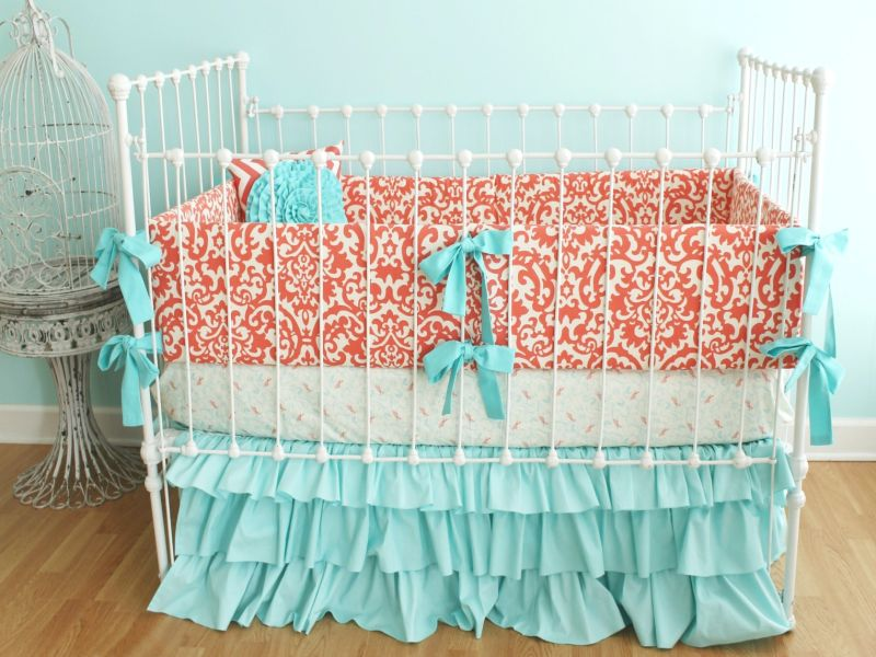Image of: Coral Nursery Bedding Beautiful