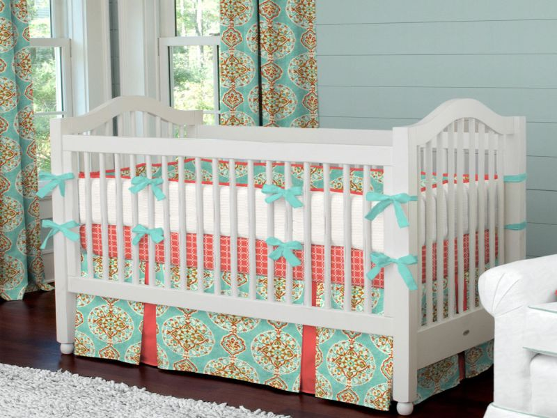 Picture of: Coral Nursery Bedding Nice