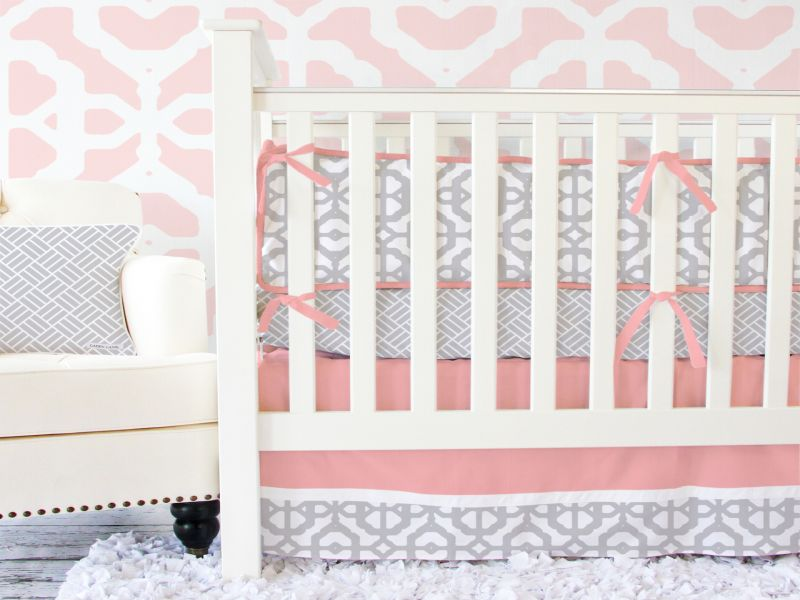 Image of: Coral Nursery Bedding Pink