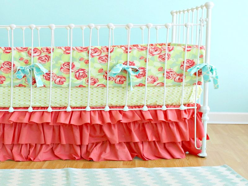 Image of: Coral Nursery Bedding Popular
