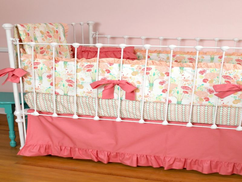 Image of: Coral Nursery Bedding Reminisce