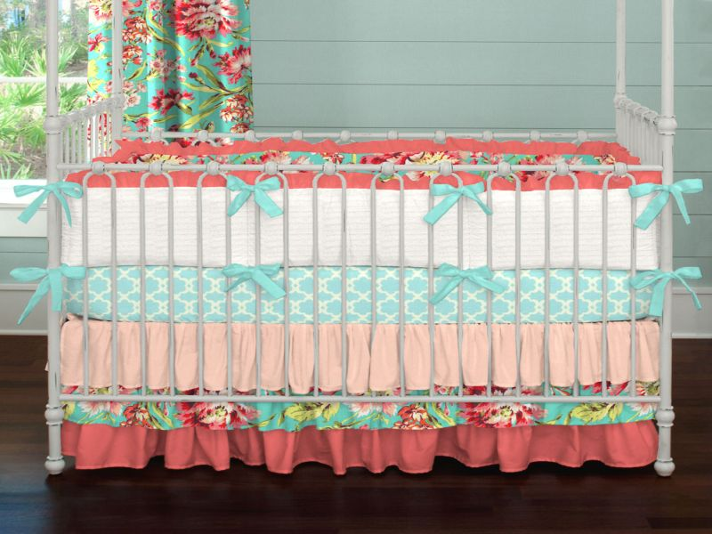 Image of: Coral Nursery Bedding elegant