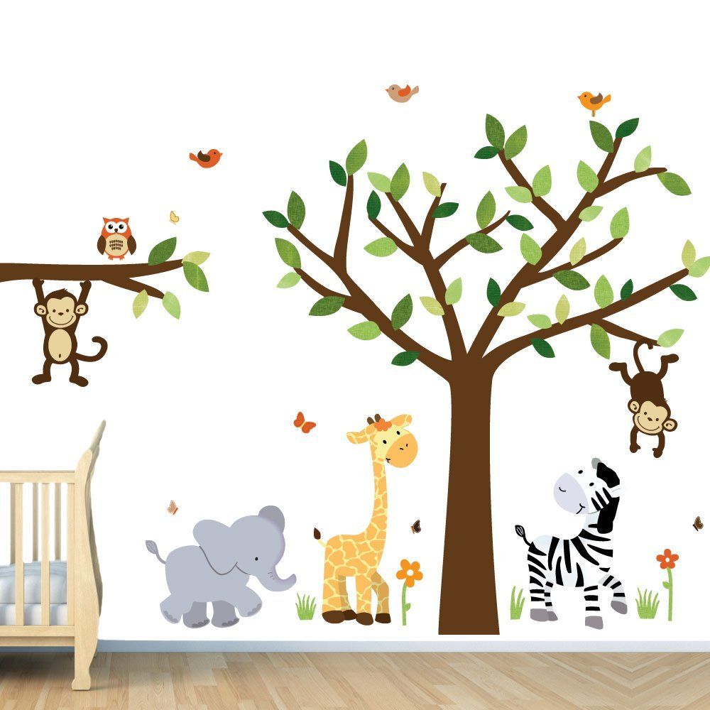Image of: Creative Wall Decals for Nursery
