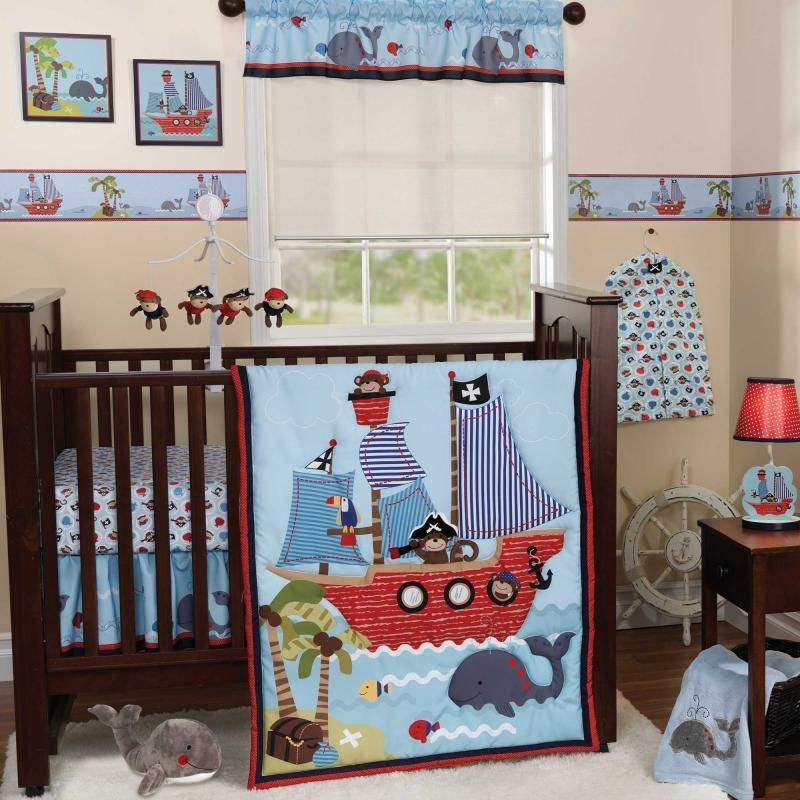 Image of: Crib Nautical Nursery Bedding