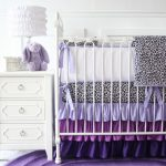 Crib Purple Nursery Bedding