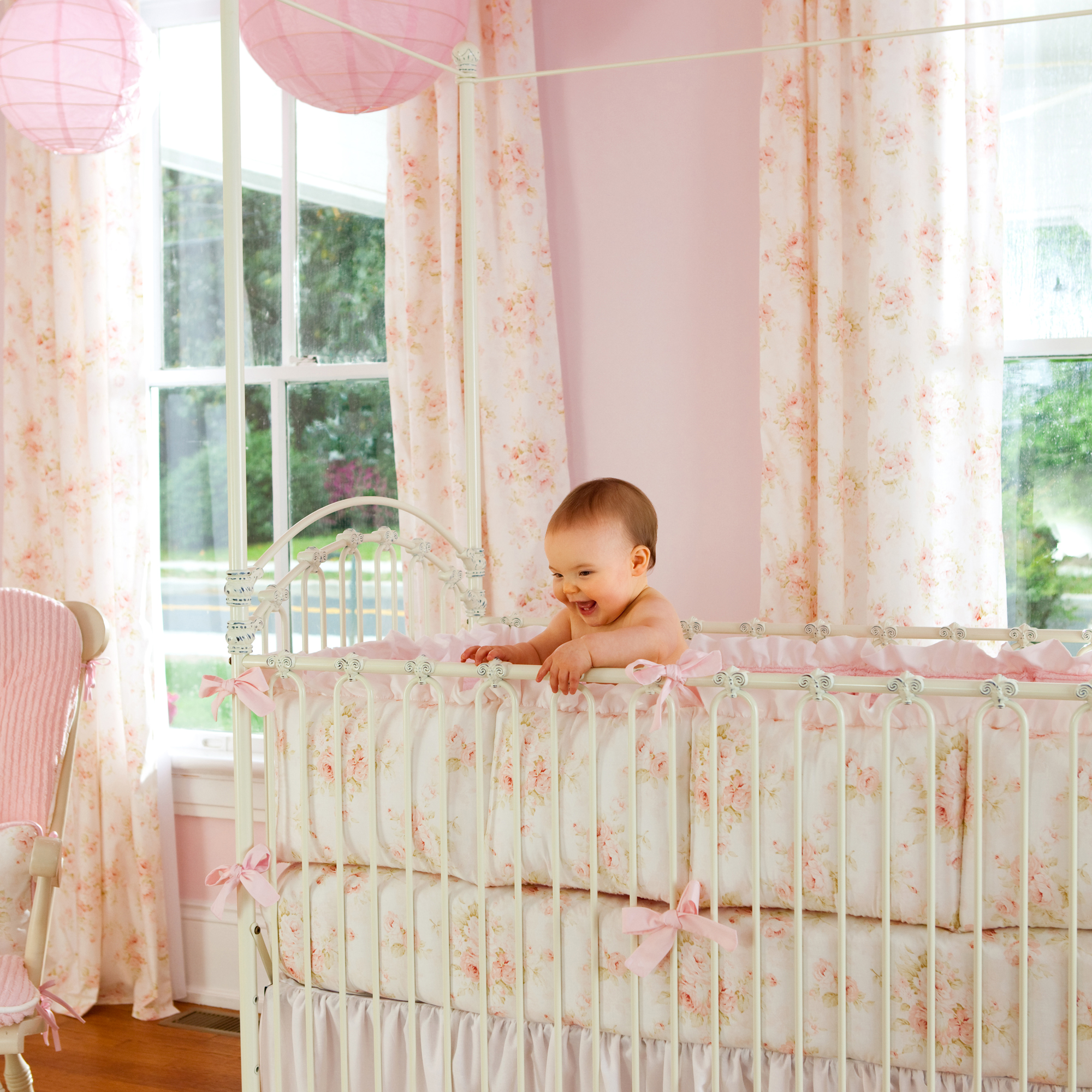Picture of: Crib Shabby Chic Nursery