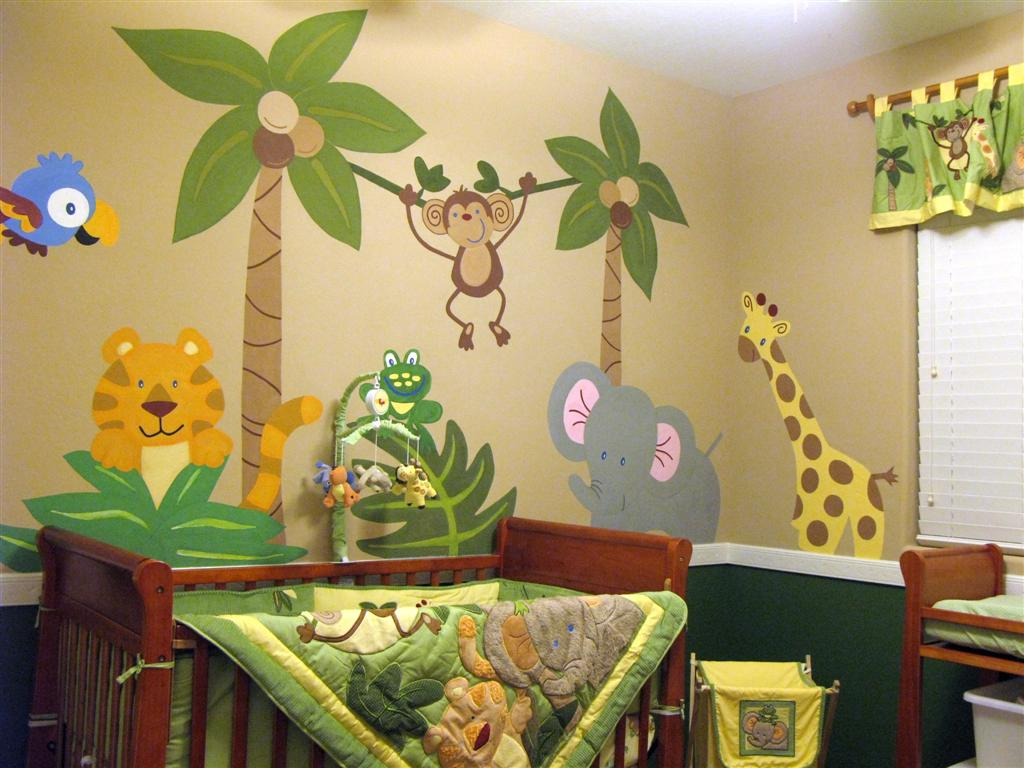 Image of: Decor Nursery Murals