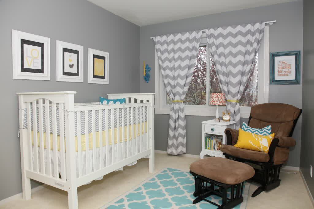 Image of: Eclectic Gender Neutral Nursery