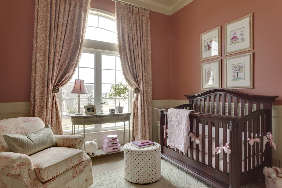 Image of: Elegant Blackout Curtains Nursery