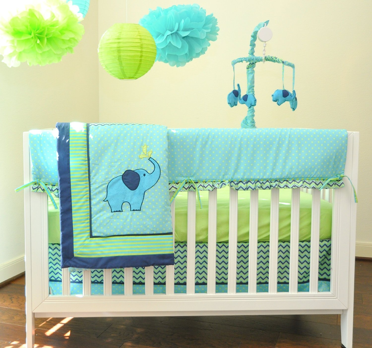 Picture of: Elephant Nursery Bedding Decoration