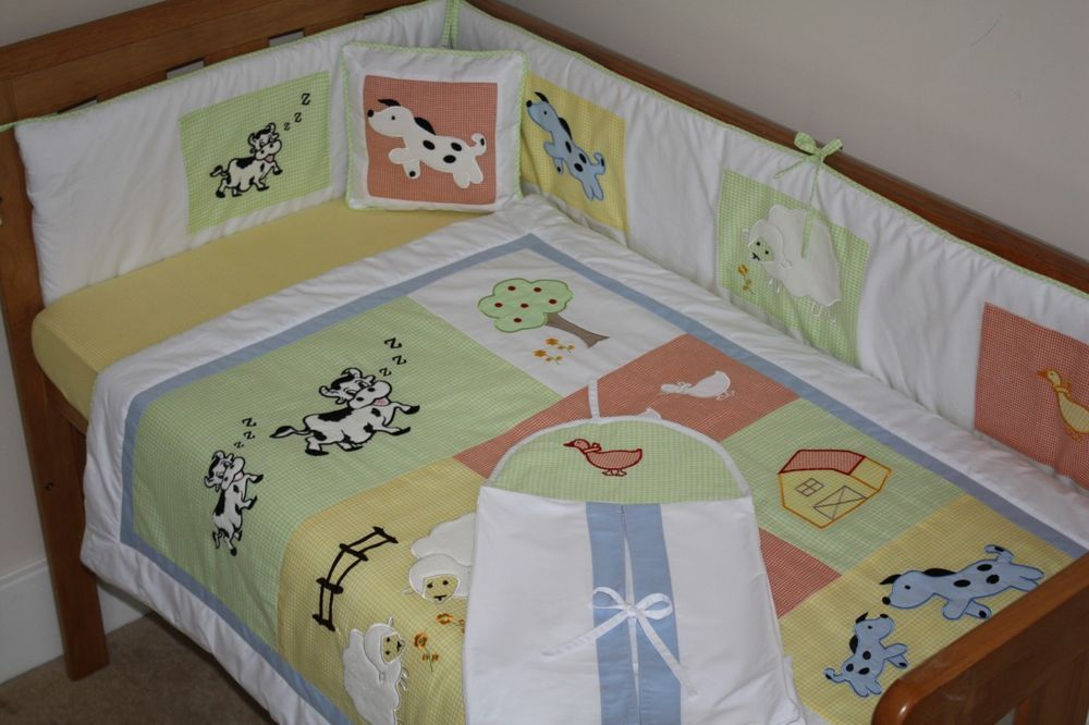 Picture of: Farm Nursery Bedding dark