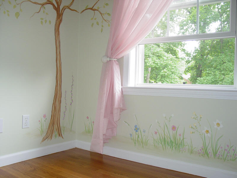Image of: Flower Nursery Murals