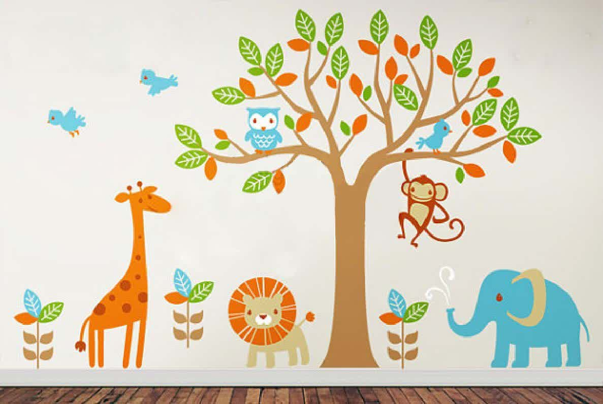 Image of: Funny Wall Decals for Nursery