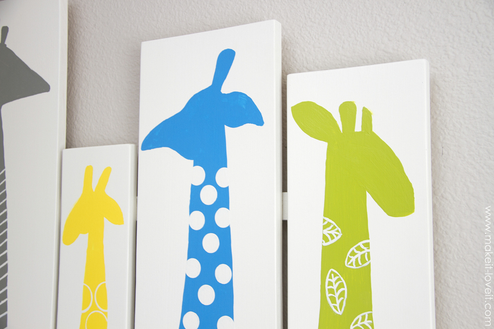 Image of: Giraffe Nursery  Art