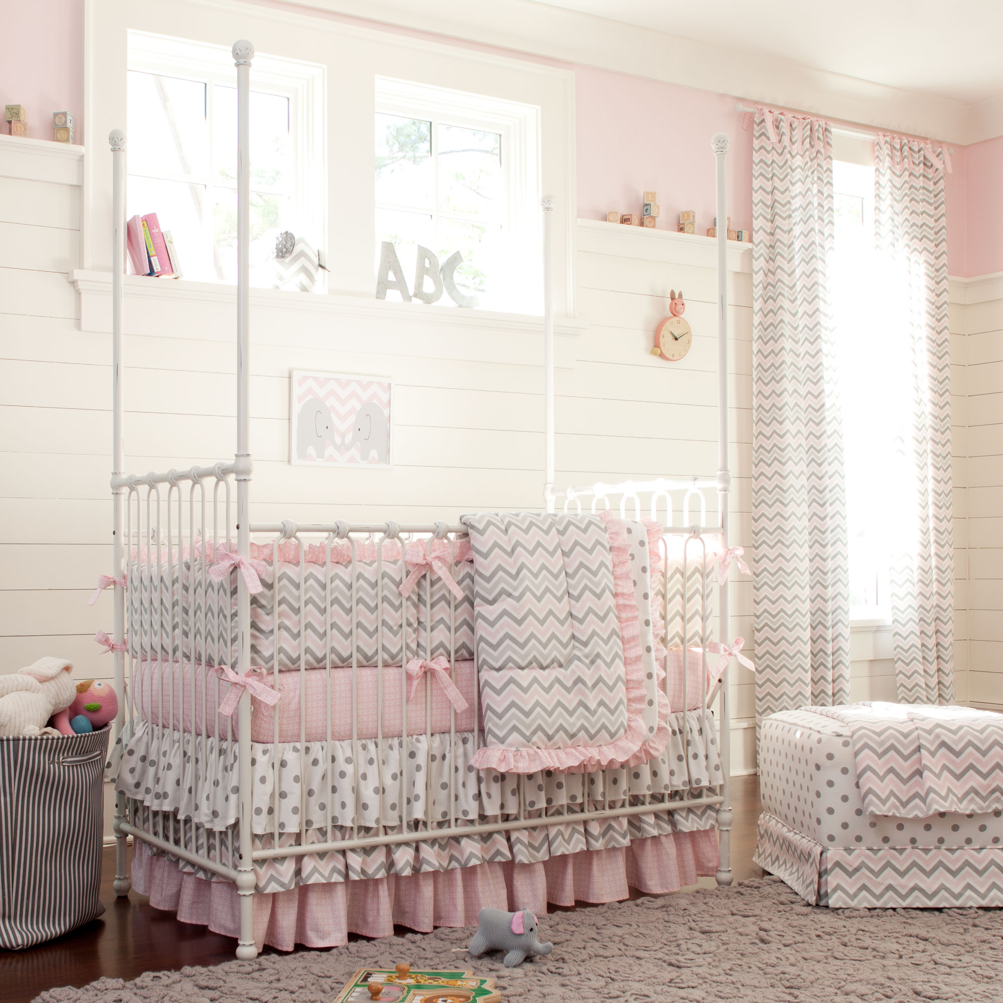 Girl Nursery Bedding clam