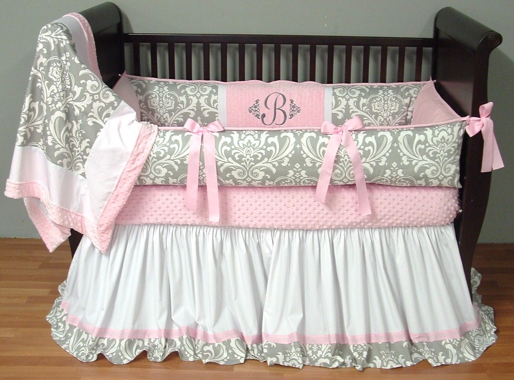 Picture of: Girl Nursery Bedding floor