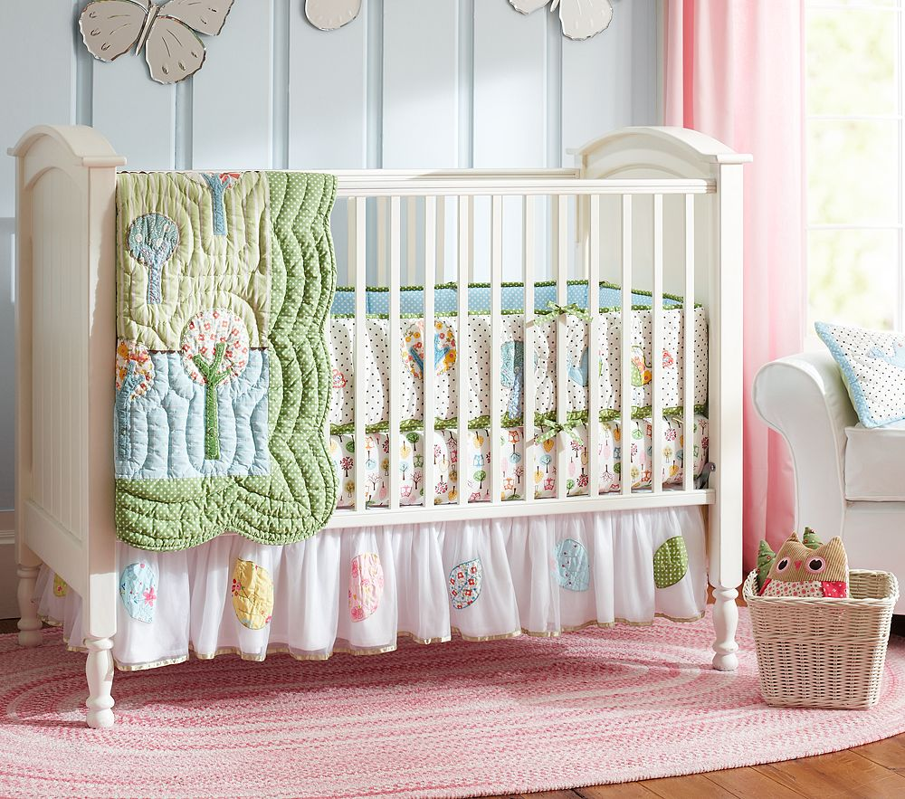 Picture of: Girl Nursery Bedding glass