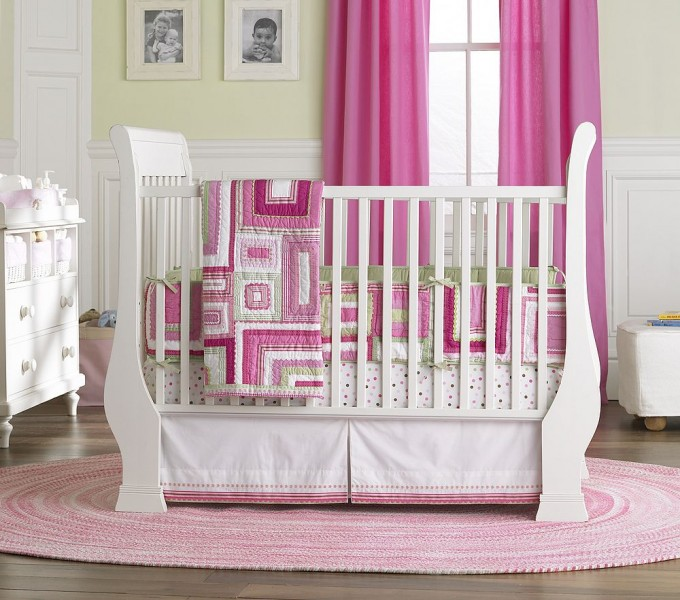 Picture of: Girl Nursery Bedding hunter