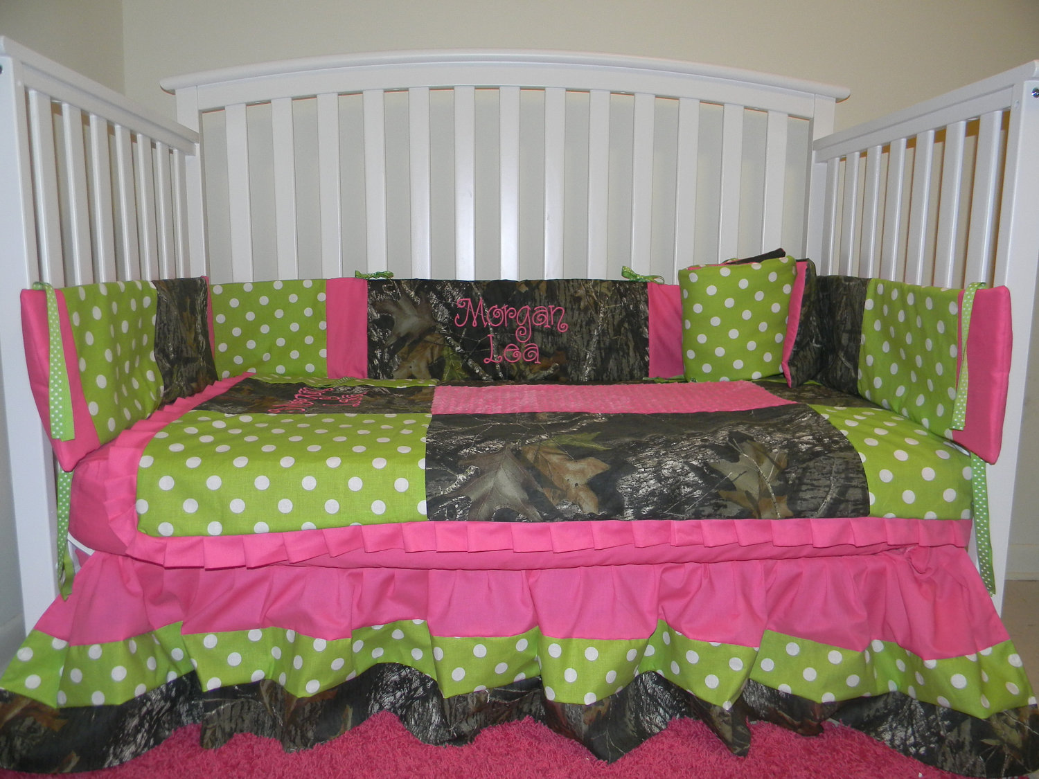 Picture of: Girl Nursery Bedding real
