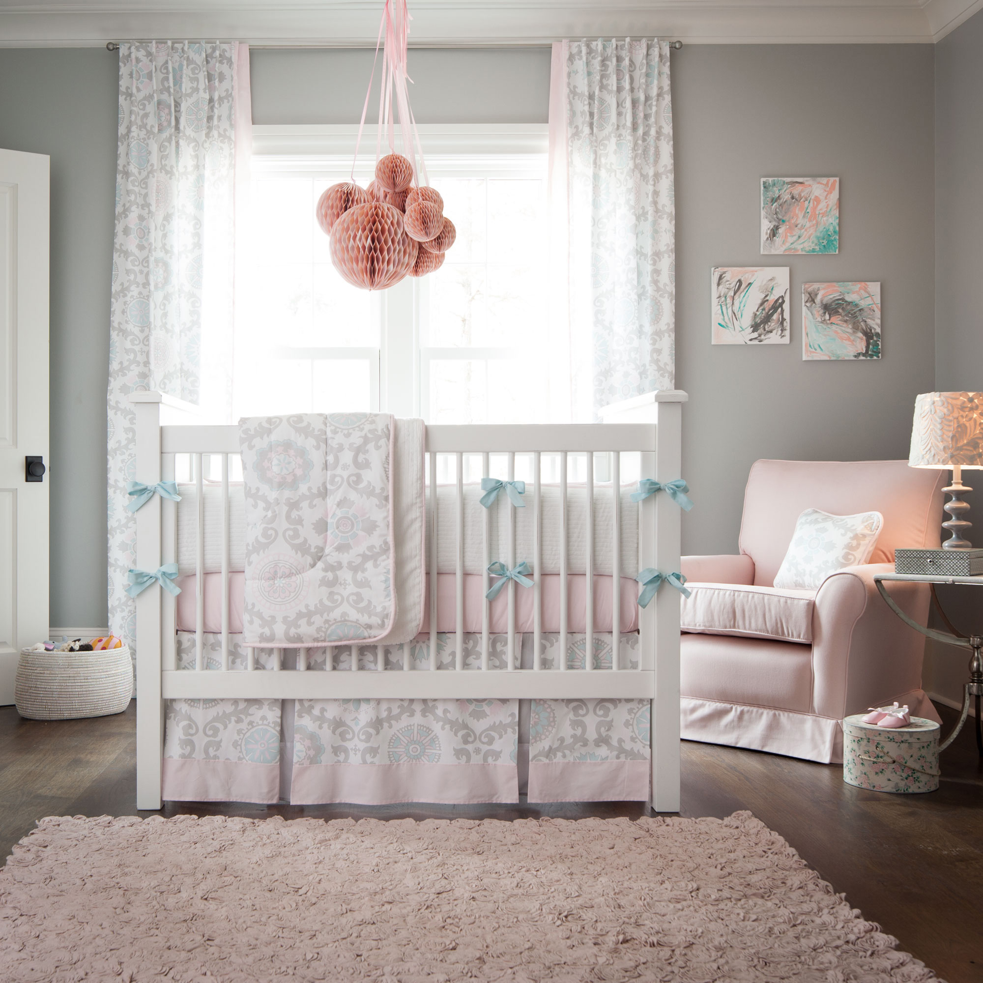 Picture of: Girl Nursery Bedding tall