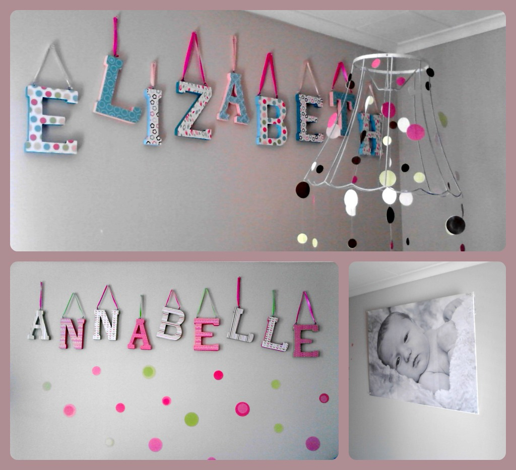 Girls Wooden Letters for Nursery