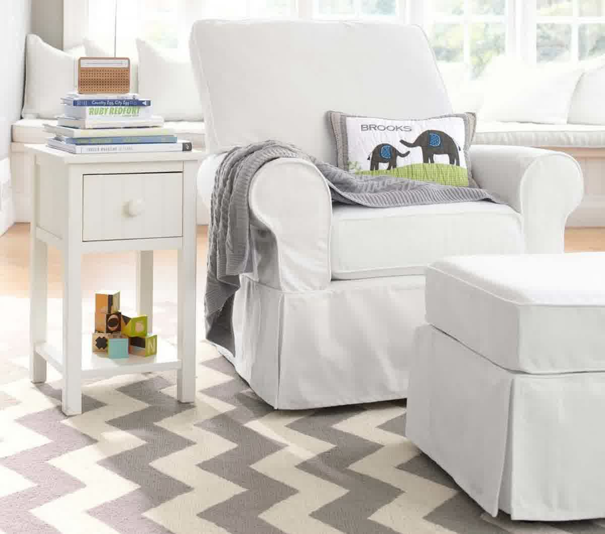 Picture of: Glider Rockers for Nursery in the Bed white