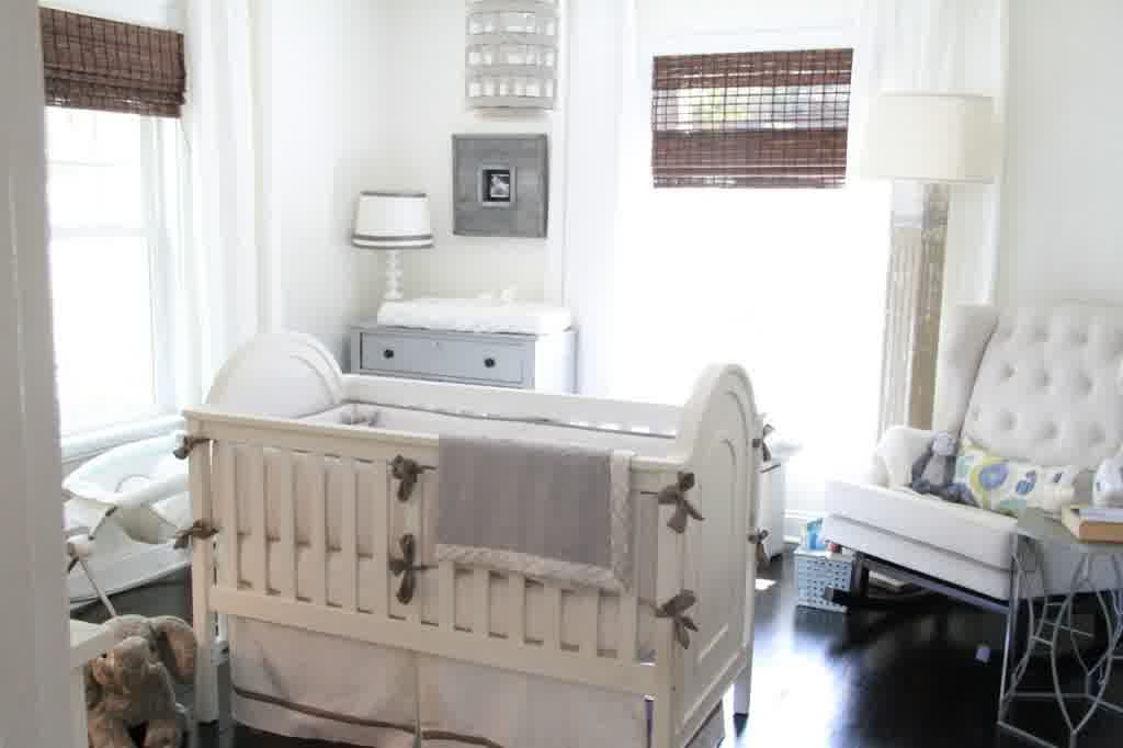 Image of: Gray and White Gender Neutral Nursery
